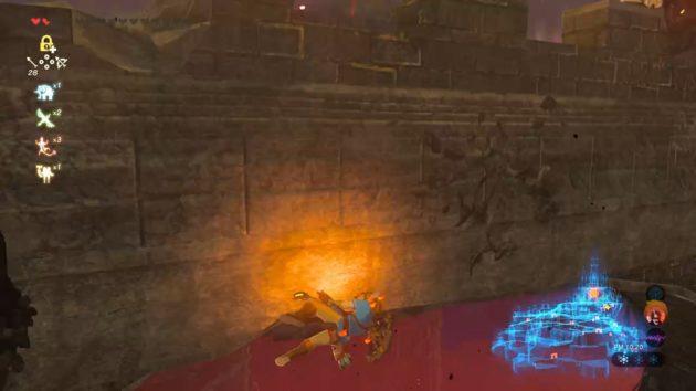 ハイラル城の思い出の場所から落下するリンク②