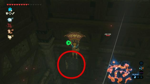 ハイラル城の天井の高い部屋⑦