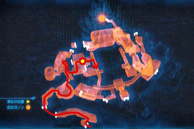 ハイラル城の室内マップ