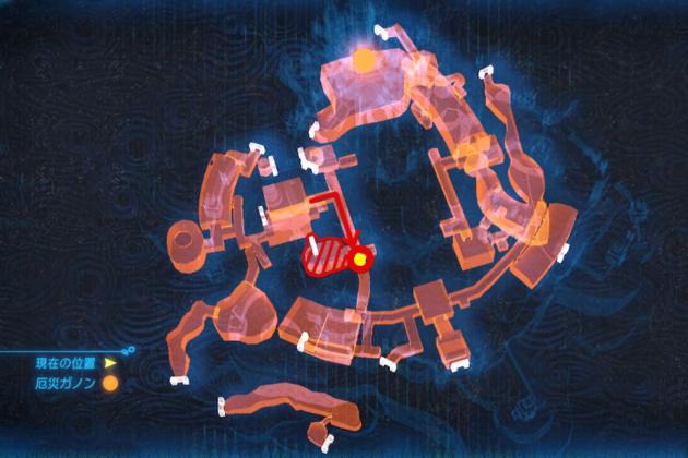 ハイラル城の地上に通じる扉(マップ)