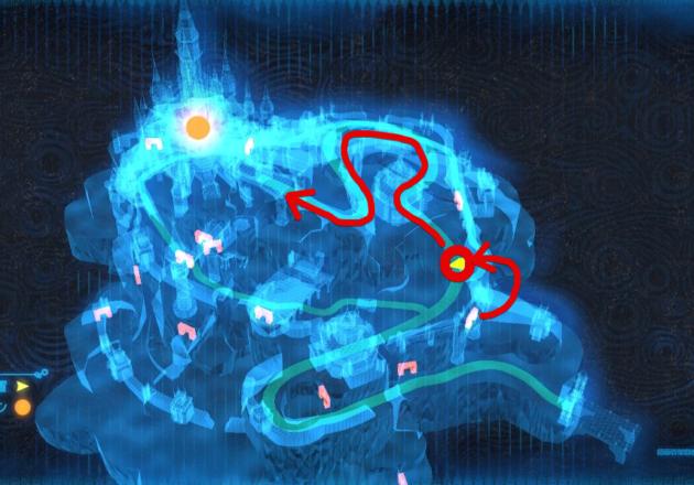 ハイラル城、ガノンへのルート(マップ)