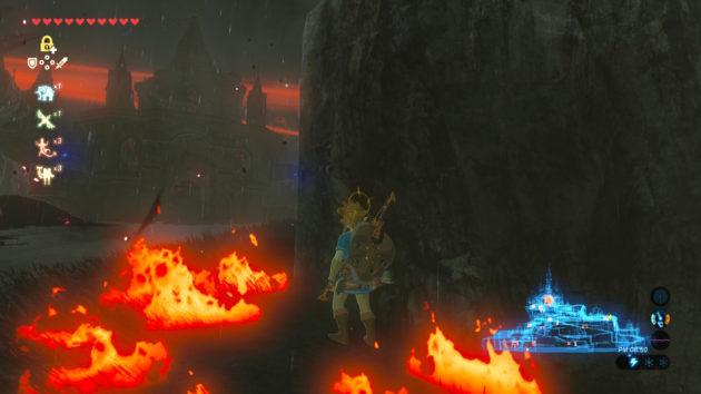 ハイラル城にて落雷で火災発生