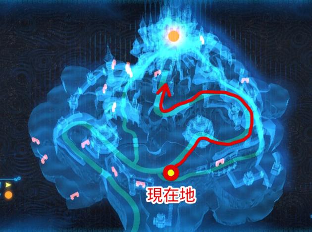 ハイラル城、二の丸前の分岐点(マップ)