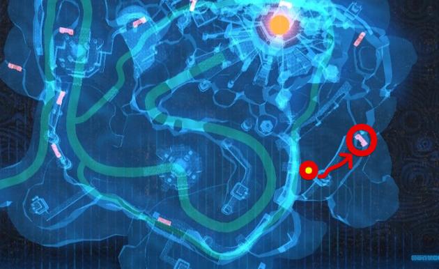 最後の室内の入り口(マップ)