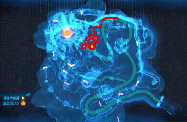 ハイラル城の本丸に到達(マップ)