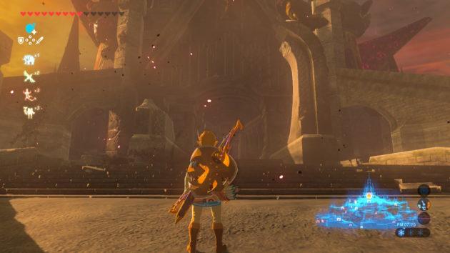 ハイラル城の本丸の前