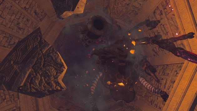 ハイラル城の厄災ガノンムービー、決戦場への落下⑥