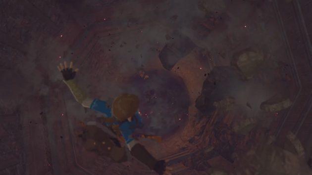 ハイラル城の厄災ガノンムービー、決戦場への落下⑦
