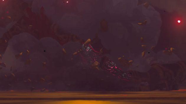 ハイラル城の厄災ガノンムービー、決戦場への落下⑨
