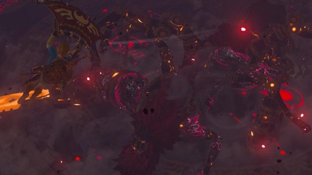 ハイラル城の厄災ガノンムービー、決戦場への落下⑩