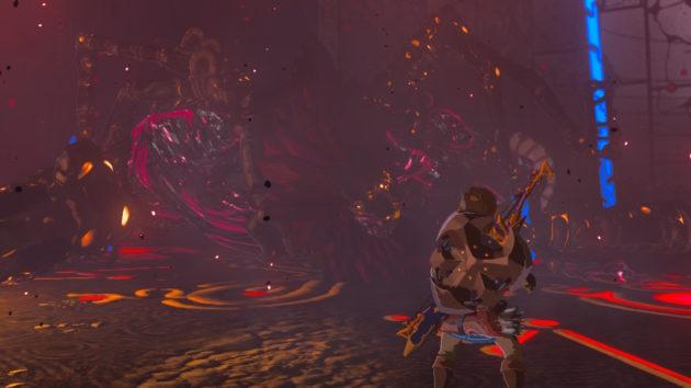 ハイラル城の厄災ガノンムービー、4神獣のレーザービーム⑥