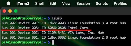 小型マイクがUSBに認識されているかを確認する(USB接続後)