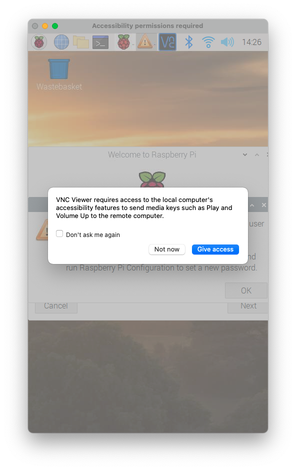 MacでVNC接続成功