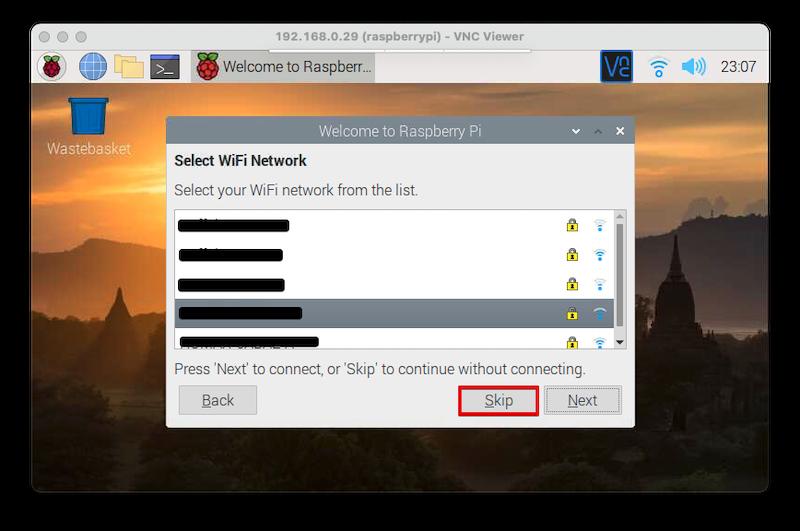 RaspberryPi4 デスクトップでの初期設定⑥