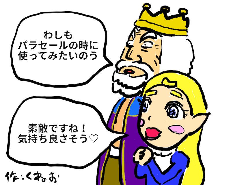 ゼルダ姫とハイラル王